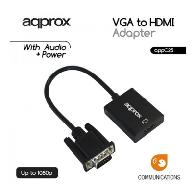APPROX APPC25 VGA to HDMI Adapter with audio input