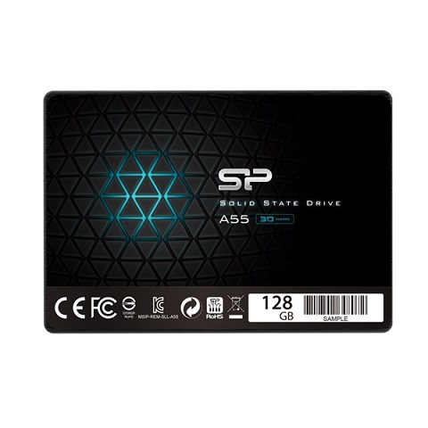 "Silicon Power A55 128GB 2,5"" (TLC) SSD (r:550 MB/s; w:420 MB/s) -  3év garancia"