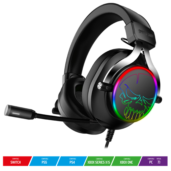 Spirit of Gamer Fejhallgató - MIC-XH600 (PC,XBOX-ONE-S-X,PS4,PS5,SWITCH, 7.1, fekete)