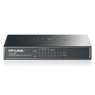 TP-LINK TL-SG1008P POE 4+4port POE Switch - 2év gar.