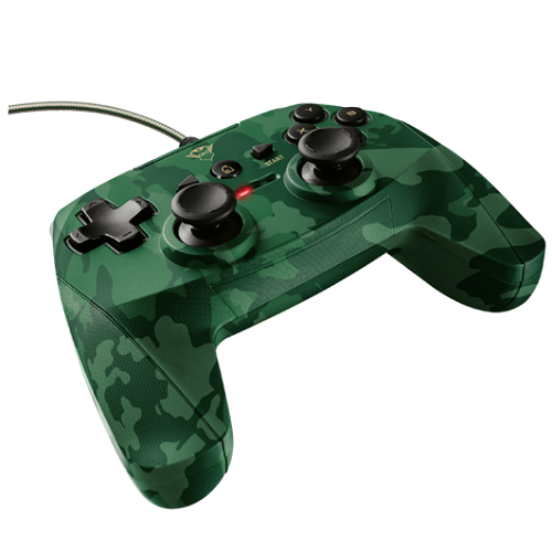 Trust Gamepad - GXT 540C Yula - camo (Playstation design; PC és PS3 kompatibilis.) - 23291 - 2év garancia