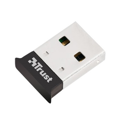 Trust Bluetooth Adapter - Ultra Small (Bluetooth® 4.0; micro méret; USB; fekete) - 18187