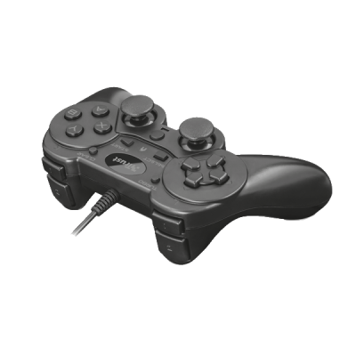 Trust Gamepad - Ziva (Playstation design; fekete; PC, PS3 )  - 2 év garancia