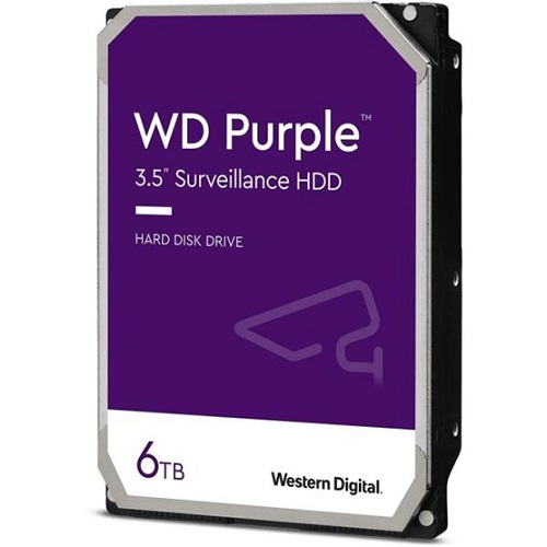 Western Digital Purple 6TB 5400RPM - WD62PURZ - 3év garancia