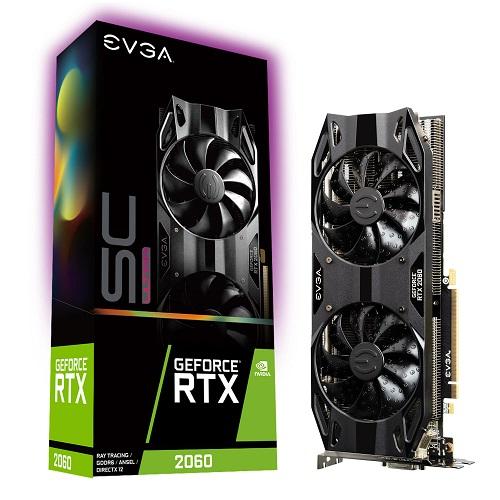 EVGA NVIDIA RTX 2060 6GB - GeForce RTX 2060 SC ULTRA GAMING - 3 év garancia
