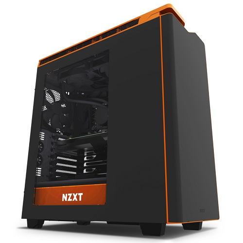 NZXT Mid Tower fekete/narancs - H440 - CA-H442W-M0