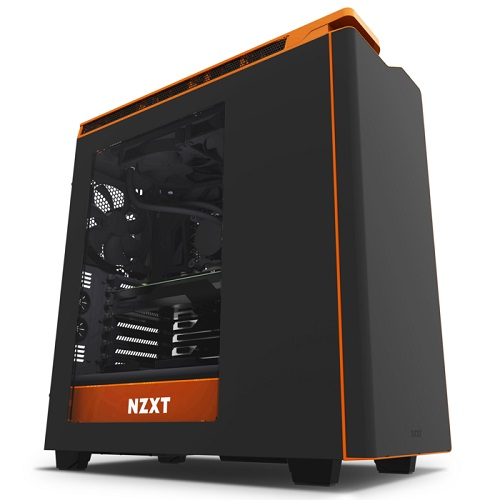 NZXT Mid Tower Fekete/narancs - H440 - CA-H440W-M2