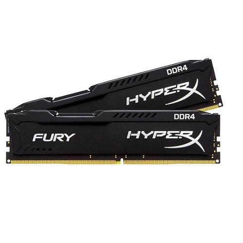 Kingston 16GB DDR4 2400Mhz KIT (2x8GB) HyperX Fury Black HX424C15FBK2/16 - 3év gar.