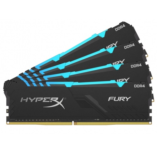 Kingston 32GB/3466MHz DDR4 HyperX FURY RGB (KIT 4x8GB) (HX434C16FB3AK4/32) memória