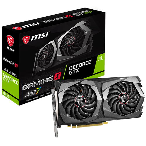 MSI GTX1650 4GB GDDR6 - GEFORCE GTX 1650 D6 GAMING X 4G - 3év garancia