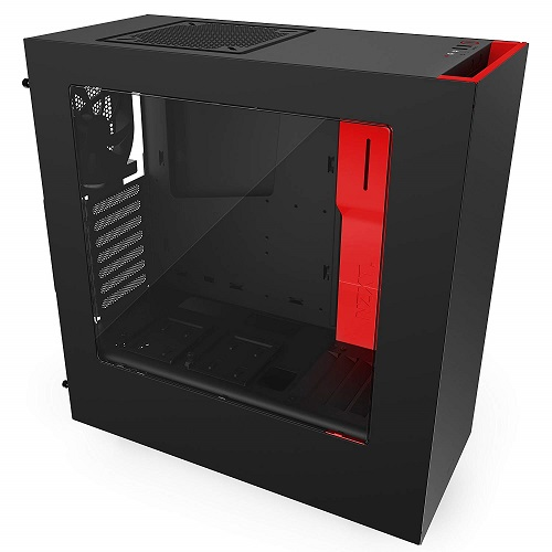 NZXT Mid Tower fekete/piros - S340 - CA-S340MB-GR