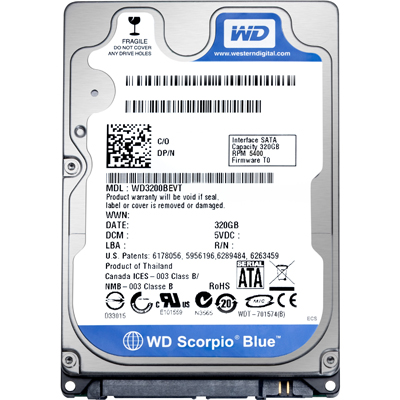 Western Digital 500GB (LPCX) Sata 2,5 Notebook HDD - 2év gar.